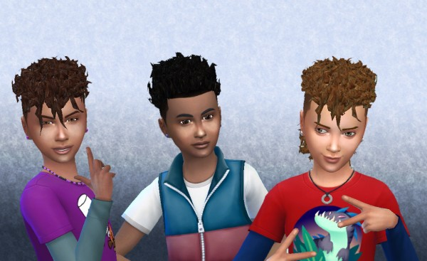 Mystufforigin: Brillit Boy Curls Conversion for Sims 4