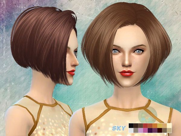 The Sims Resource: Hair 219 by Skysims for Sims 4