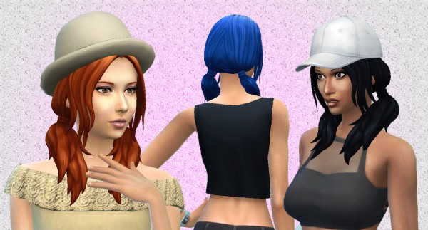 Mystufforigin: Loose Wavy hairstyle for Sims 4