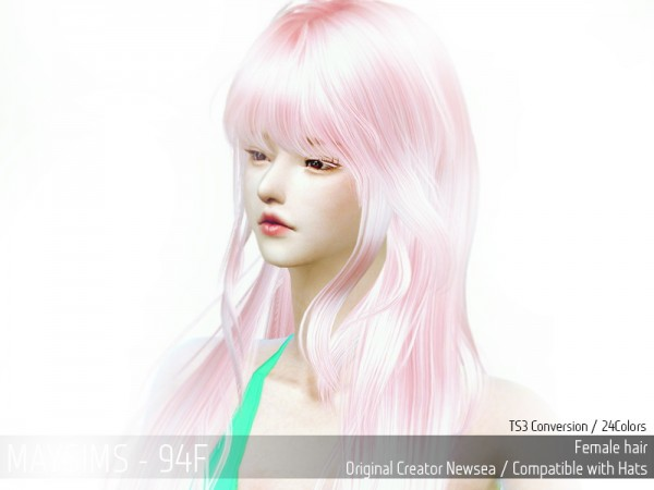 MAY Sims: May Hairstyle 94F retextured for Sims 4