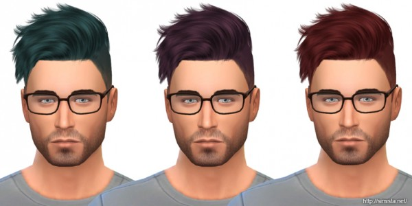 Simista: May Sims Hairstyle 14M retextured for Sims 4
