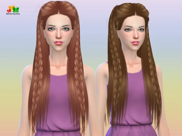 Butterflysims: Hair 163 no hat for Sims 4