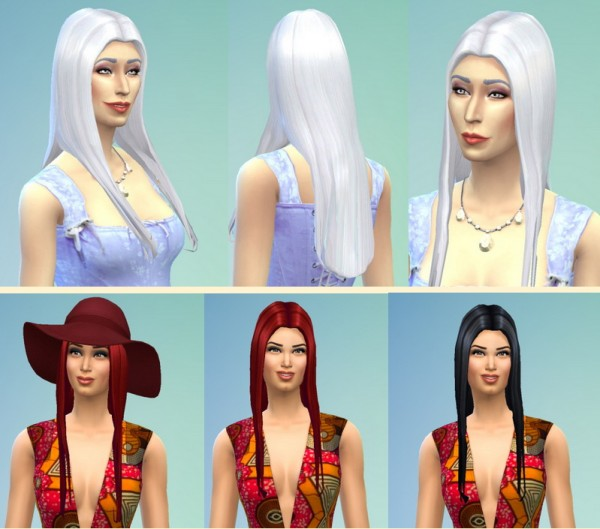 Birksches sims blog: Stahma Hairstyle for Sims 4
