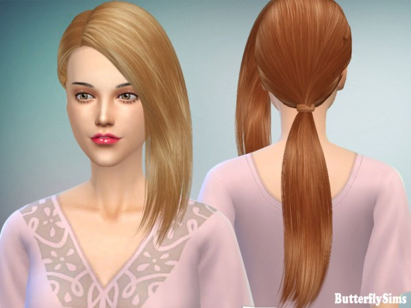 Butterflysims: Hairstyle156 No hat for Sims 4
