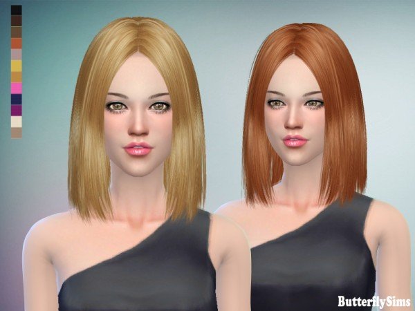 Butterflysims: Hairstyle 159 No hat for Sims 4