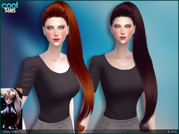 The Sims Resource: Anto   Galaxy hair by Alesso for Sims 4
