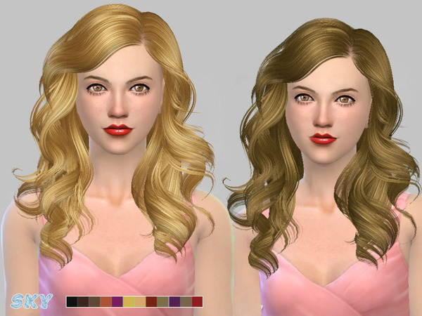 The Sims Resource: Hairs 187 by Skysims for Sims 4