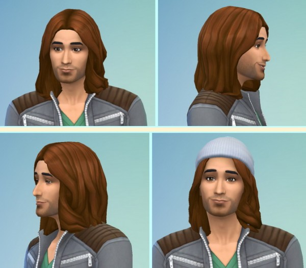 Birksches sims blog: Wavy to Shoulder   Datak Hairstyle for Sims 4