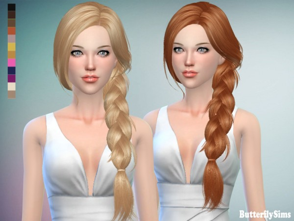 Butterflysims: Hair 160JO   No hat for Sims 4