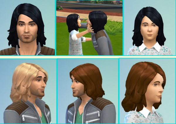 Birksches sims blog: Gerard and Little Gerard Hairstyle for Sims 4