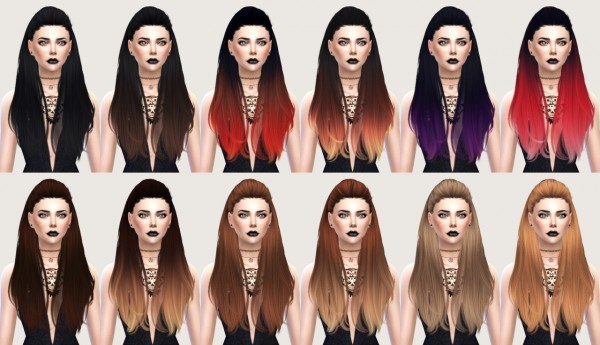 Salem2342: Nightcrawler Break free hairstyle retextured for Sims 4