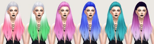 Salem2342: Nightcrawler Break free hairstyle retextured for Sims 4