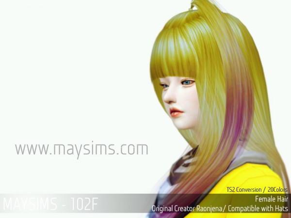 MAY Sims: May Hairstyle120F for Sims 4