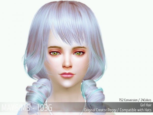 MAY Sims: May Hairstyle 103C retextured for Sims 4