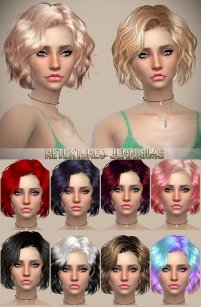 Jenni Sims: Newsea`s Foom Summer and  Butterflysims 142 Hairstyles retextured for Sims 4