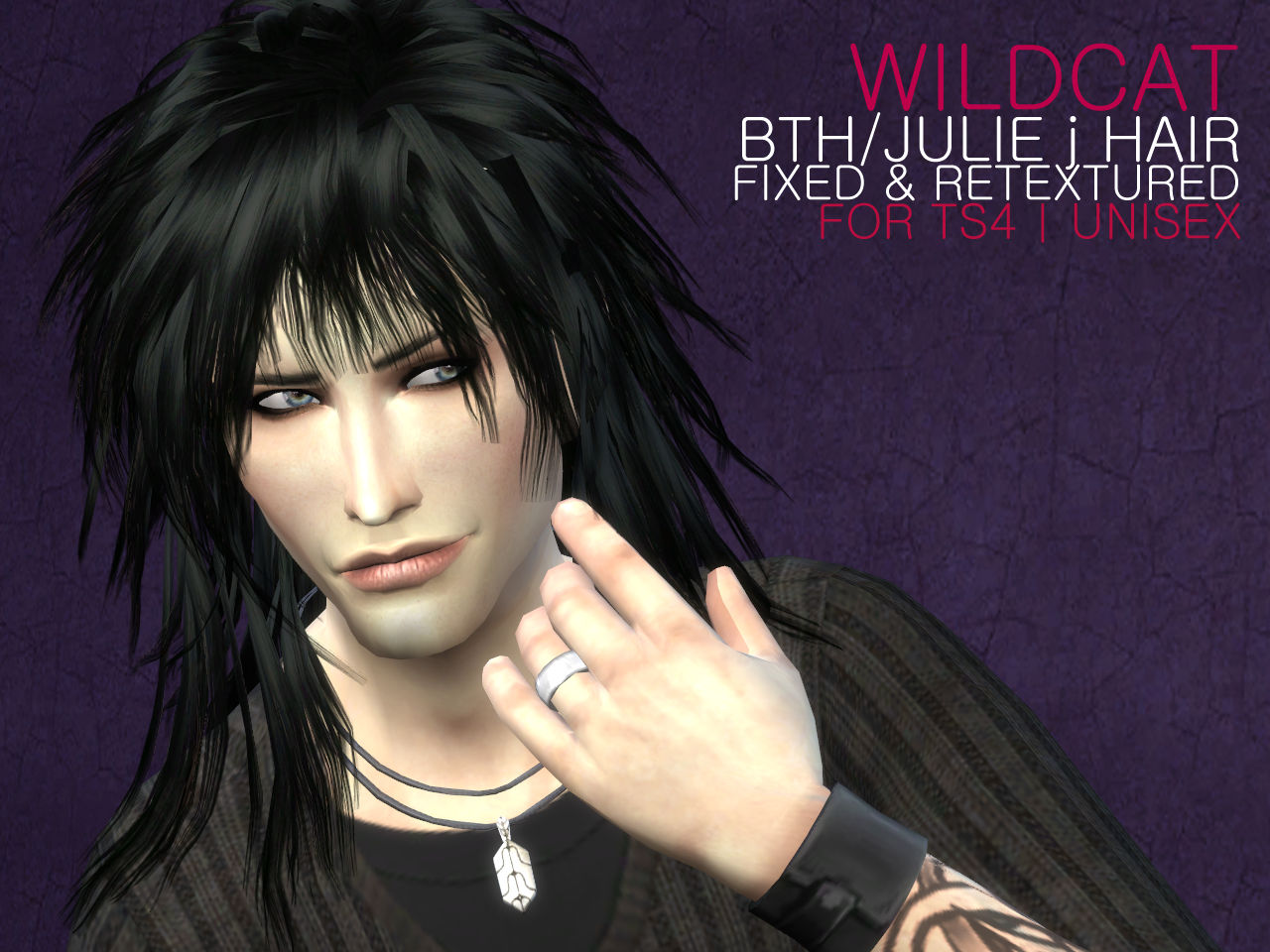 Sims 4 Hairs The Path Of Never More Wildcat Hair Retextured