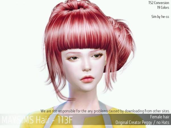 MAY Sims: May Hair 113 F for Sims 4