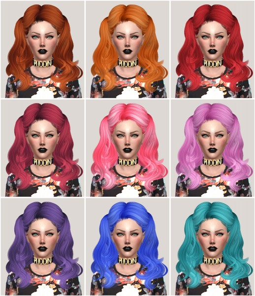 Salem2342: NewSea`s Hair YU104 retextured for Sims 4
