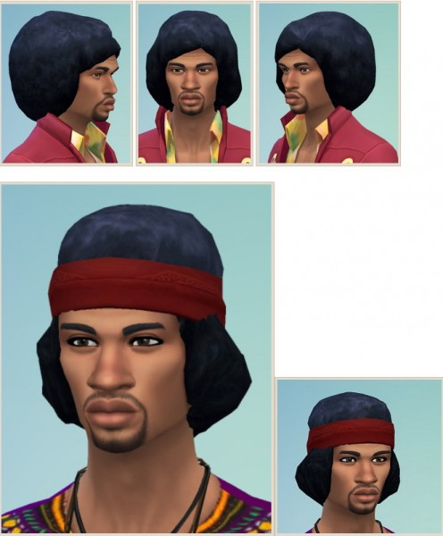Birksches sims blog: Jimmy Hendrix Hair for Sims 4