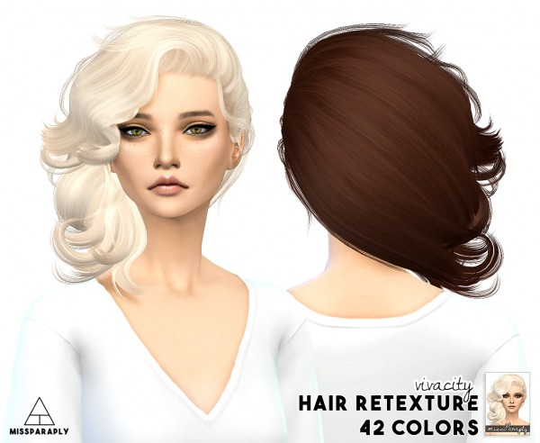 Miss Paraply: Stealthic Vivacity hair retextured for Sims 4