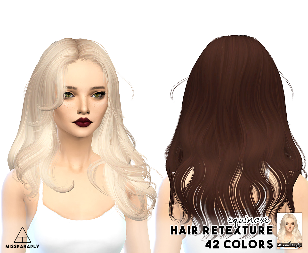 Sims 4 Hairs Miss Paraply Newsea Hairs Retextured