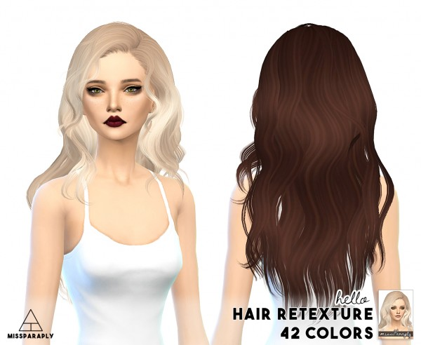 Miss Paraply: Newsea hairs retextured for Sims 4