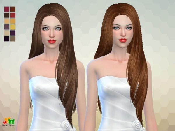 Butterflysims: Hair 168 hair No hat for Sims 4
