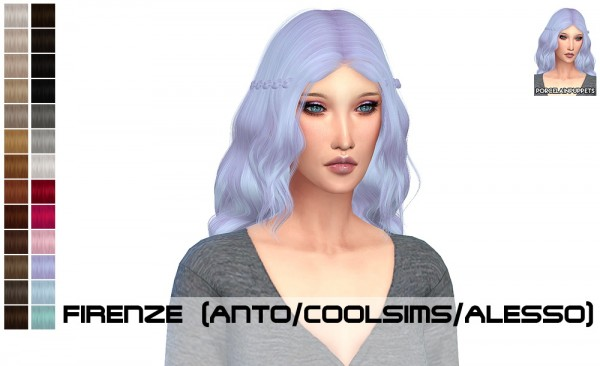 Porcelain Warehouse: Anto Firenze and Omen hair retextured for Sims 4