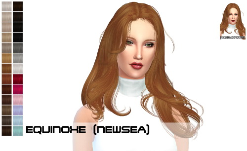 Porcelain Warehouse: Newsea Equinoxe + Agnes hair retextured for Sims 4