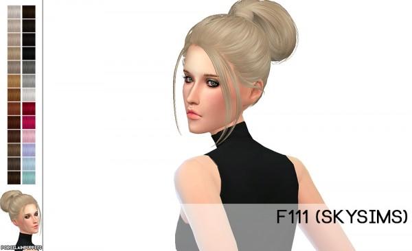 Porcelain Warehouse: Skysims F296 + F111hair retextured for Sims 4