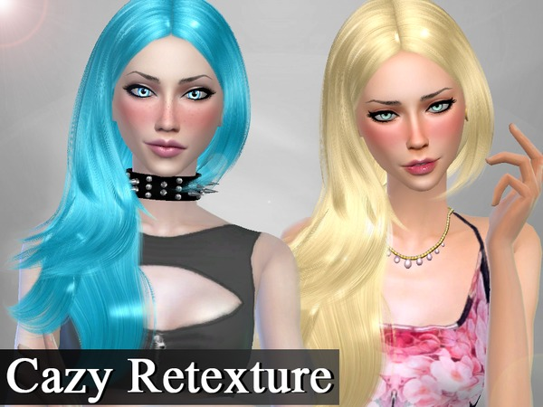 The Sims Resource: Cazy hair Rochelle retextured for Sims 4