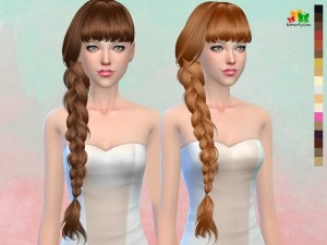 Butterflysims: Hair 166 NO hat for Sims 4