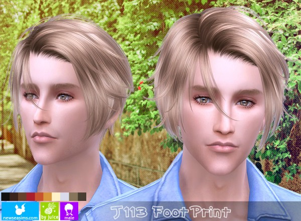 NewSea: J113 Foot Print hair for Sims 4