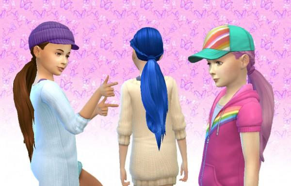 Mystufforigin: Winding hair for girls for Sims 4
