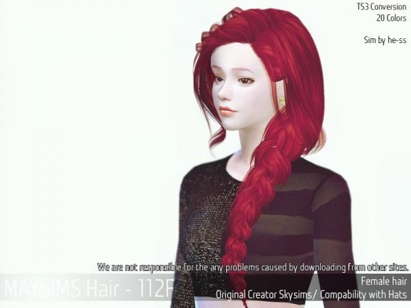 MAY Sims: May Hair 112F for Sims 4
