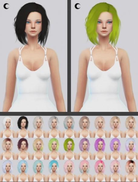 Kalewa a: Stealthic Vapor hair retextured for Sims 4
