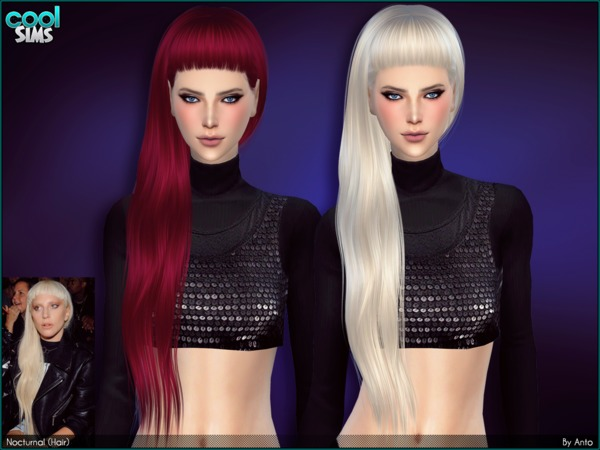 The Sims Resource: Anto   Nocturnal Hair by Alesso for Sims 4