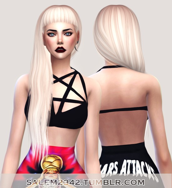 Salem2342: Anto Nocturnal hair retextured for Sims 4