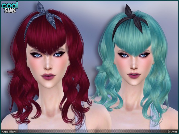 The Sims Resource: Aikea Hair by Anto for Sims 4