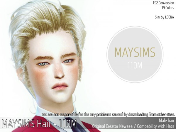 MAY Sims: May Hair 110M for Sims 4
