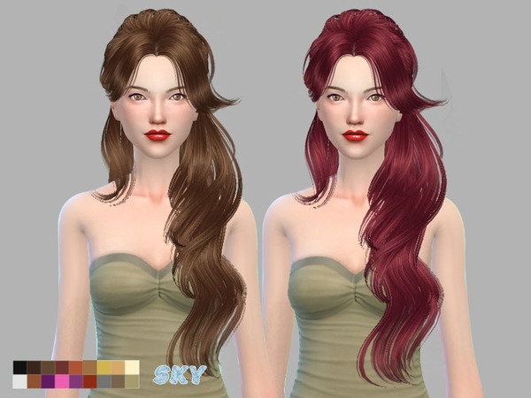 The Sims Resource: Hair 068 by Skysims for Sims 4