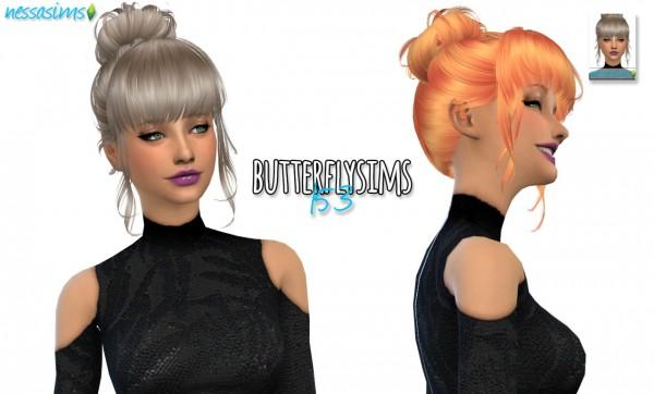 Nessa sims: Butterflysims 153 hair retextured for Sims 4