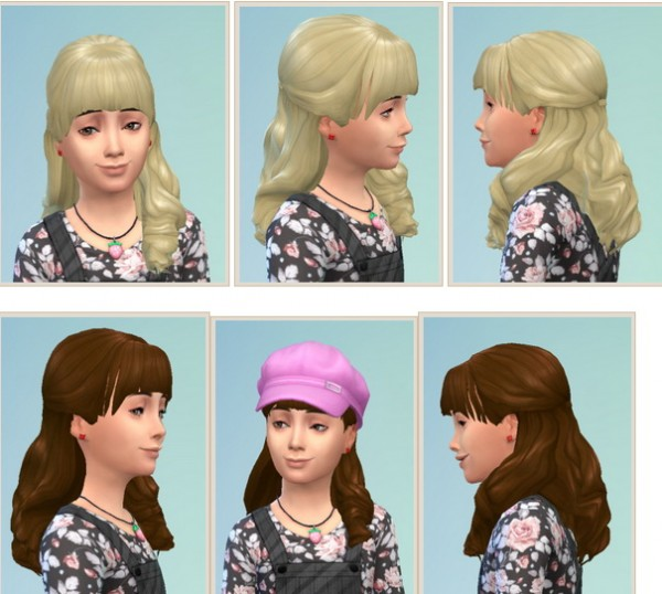 Birksches sims blog: Halfup for Girls for Sims 4