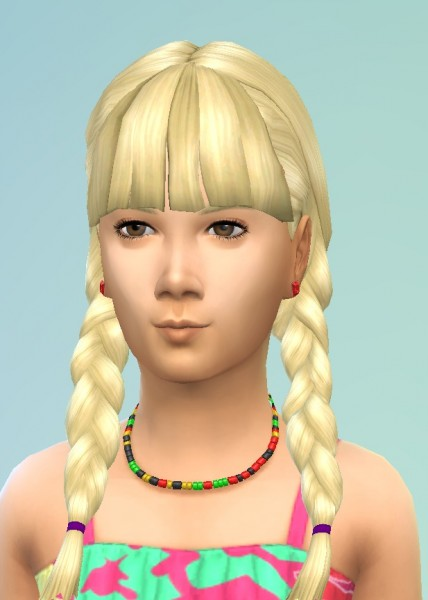Birksches sims blog: Pictails with Bangs for Sims 4