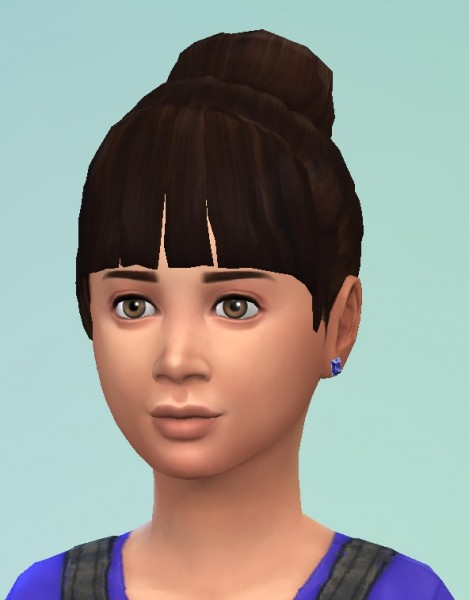 Birksches sims blog: Birdie Bun hair for Sims 4