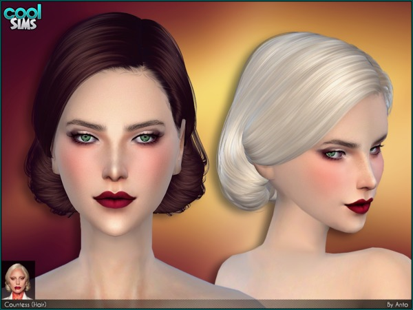 The Sims Resource: Anto   Countess Hair by Alesso for Sims 4