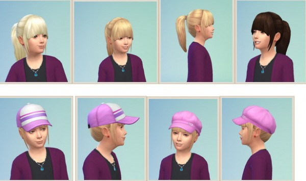 Birksches sims blog: Ponytail hair for Sims 4
