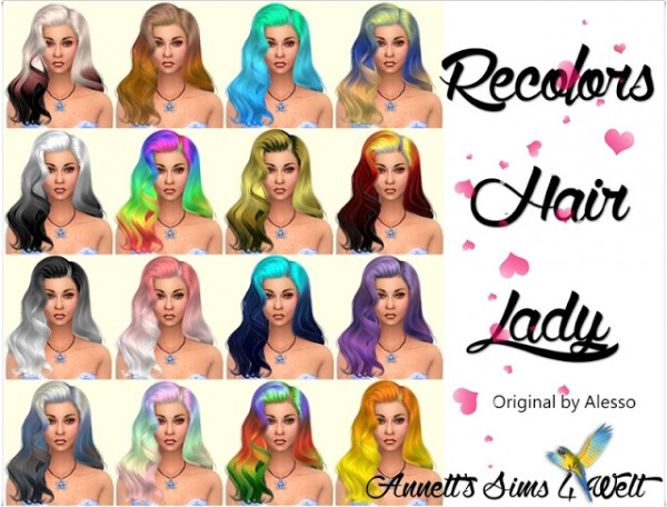 Annett`s Sims 4 Welt: Lady hair recolors for Sims 4