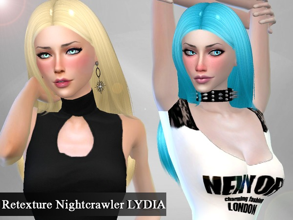 The Sims Resource: Nightcrawler Lydia hair retextured by Genius666 for Sims 4