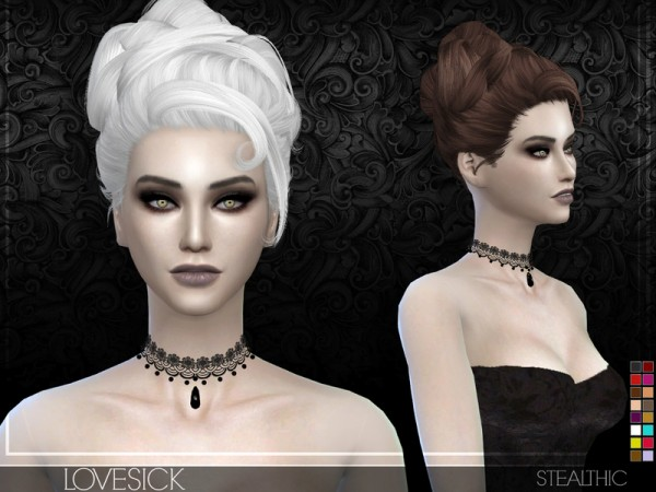 Stealthic: Lovesick hair for Sims 4